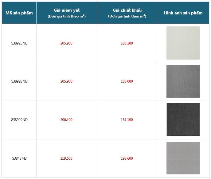 giá gạch granite 300x300 chống trơn