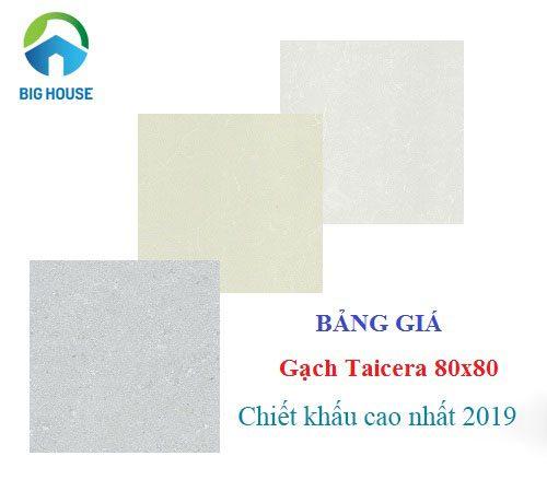 Bảng giá gạch Taicera 80×80 lát nền với Mẫu mới nhất – Chiết khấu cao