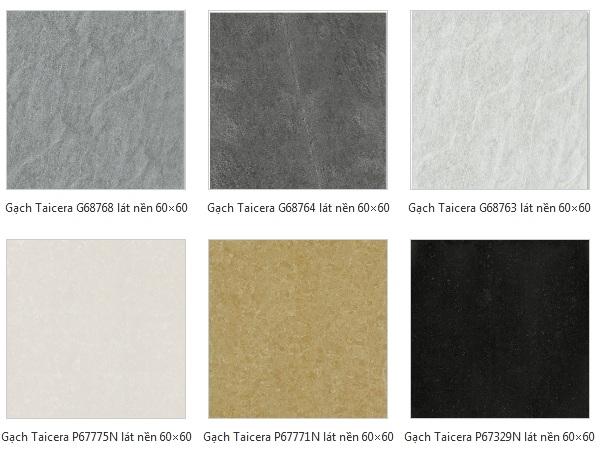 Các mẫu gạch lát nền của Taicera đa dạng về mẫu mã, họa tiết phù hợp nhiều công trình