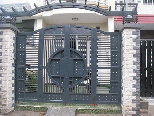 Gạch ốp cổng nhà đẹp mắt