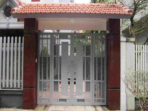 Mẫu gạch ốp trụ cổng nhà