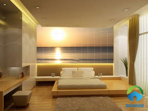 mẫu gạch ốp tường phòng ngủ chất lượng cao