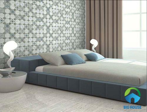 mẫu gạch ốp tường phòng ngủ đẹp mắt