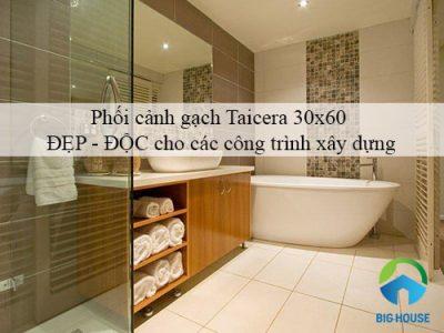 Phối cảnh gạch Taicera 30×60 ĐẸP – ĐỘC cho các công trình xây dựng