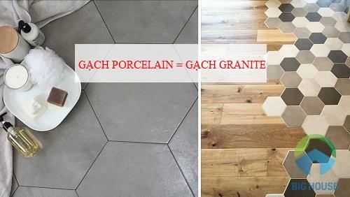 Gạch granite thực chất chính là gạch porcelain